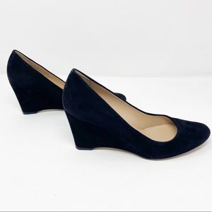 J Crew Black Suede Wedges New